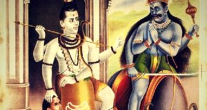 Bhagwan shiv killing Yamraj, and Yamraj praying
